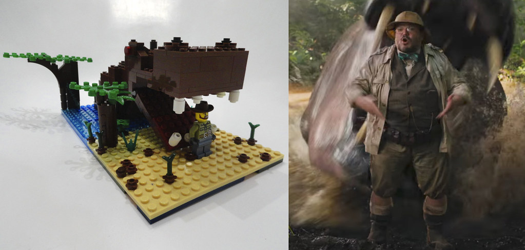Jumanji 2, hippo attack | Jumanji 2: Welcome to the Jungle