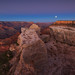 Full moon over Grand Canyon