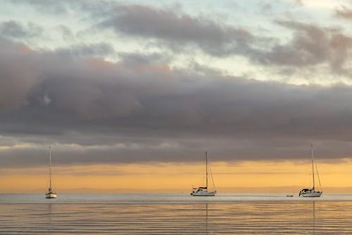 portarlington geelong melbourne sunrise ocean sea sky boats sailboats clouds portphillipbay capturingthecoast