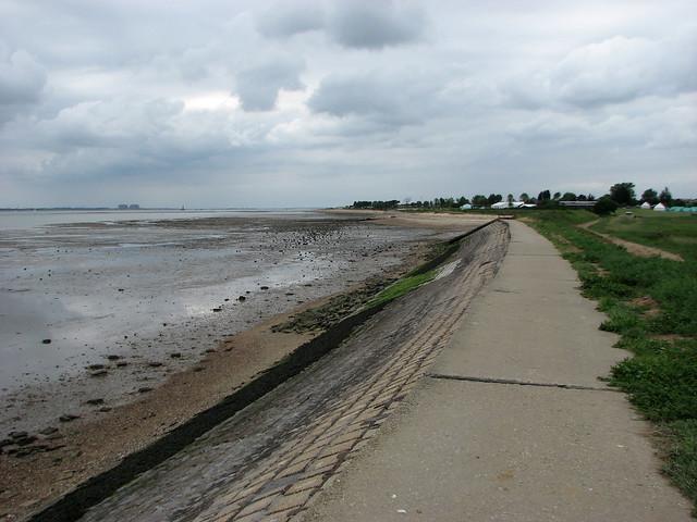 Sea wall on the south coast of Mersea Island