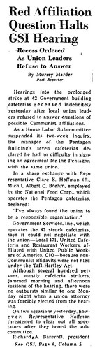 Washington Post reports on Local 471 officials' testimony: 1948 | by Washington Area Spark