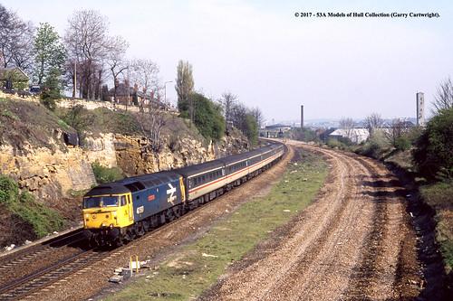 britishrail class47 47517 andrewcarnegie diesel passenger kilnhurstwest southkirkby southyorkshire train railway locomotive railroad