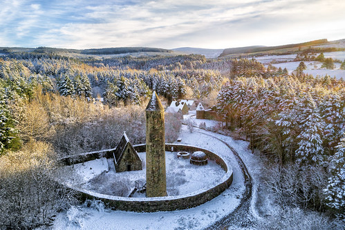 famous landscape view county donegal ireland irish xmas christmas 2017 countryside ulster history park tyrone gortin national trust ni omagh monks round tower medieval huts nature gareth wray photography dji phantom uav 4 p4p four pro drone quadcopter aerial nikon landmark tourist tourism location visit sight site summer old museum northern day photographer vacation holiday europe outdoor sky wild ruin abandoned derelict castle house way eire haunted hill mountainside forest wood trees