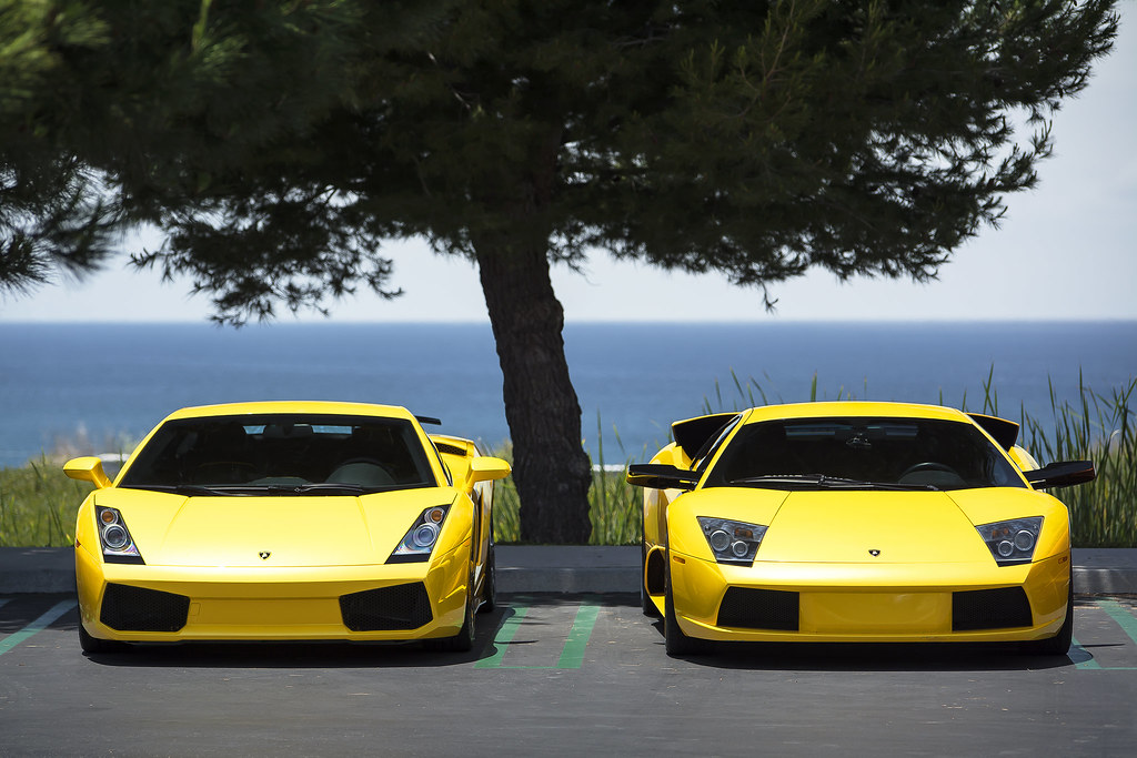 Lamborghini Gallardo And Murcielago By The Beach Lamborghi Flickr