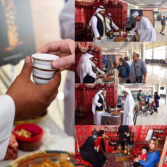 تفضلو عندنا في خيمة الضيافة وقهوة العيد والحلاوة علينا ..   Come by our hospitality tent and have some Arabic Coffee and sweets