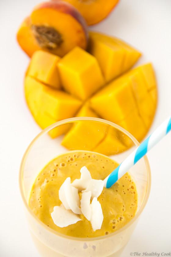 Mango, Peach & Turmeric Smoothie – Smoothie με Μάνγκο, Ροδάκινο & Κουρκουμά