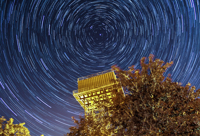 45 Minute Star Trails Over Upper Heyford Water Tower 10/08/15