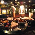 Dinner at Hotel Pleasant Haveli, Jaisalmer, India ジャイサルメール、ホテル・プレザント・ハヴェリ屋上レストランでの夕食