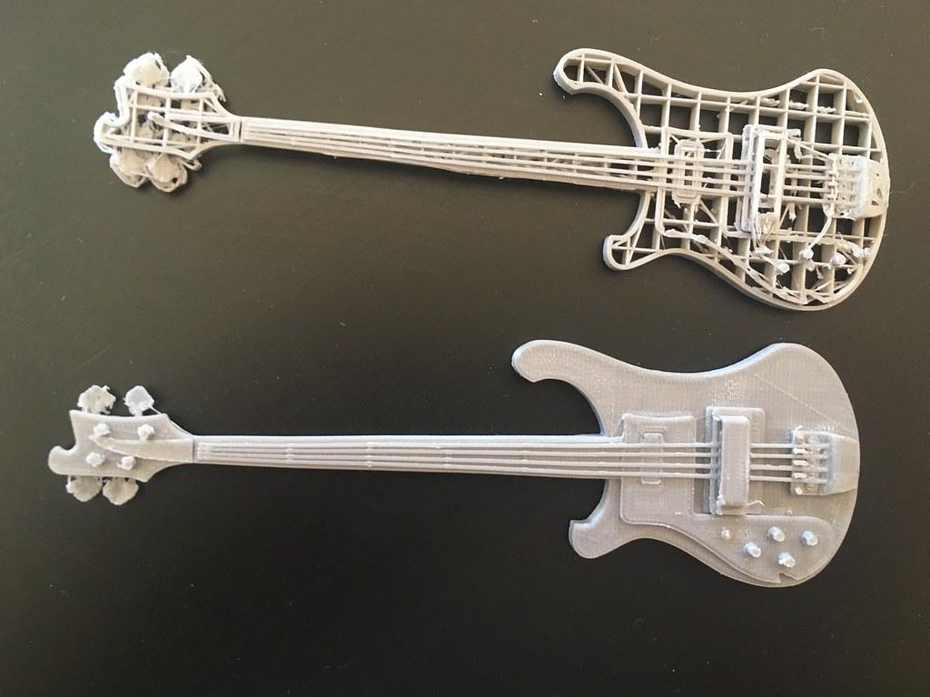 McCartney lefty Rickenbacker 4001  3D Print   Top model was