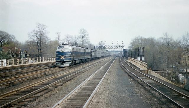 Westbound Royal Blue Line Train At Cranford, NJ