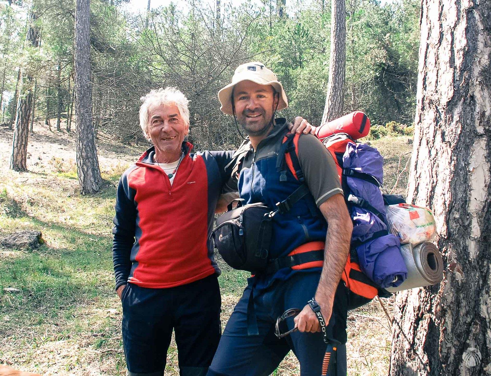 Con Julio Villar