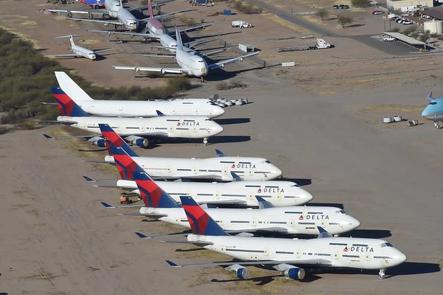 Delta Air Lines Boeing 747-400; N667US@MZJ;28.01.2018