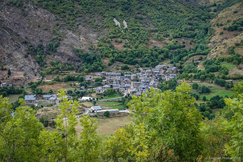 El pueblo de Durro desde Sant Quirc de Durro