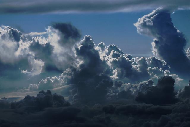 Layered Puffy Clouds