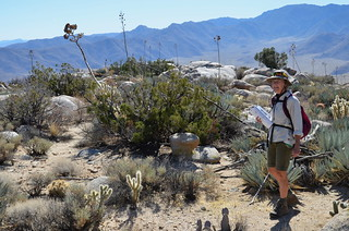 Borrego Springs - Linda with book on Ghost Mountain | by Pierre Yeremian