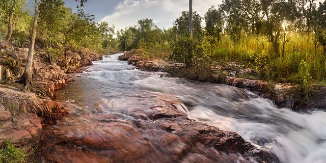 Buley Rockhole flowing fast