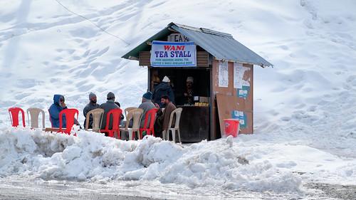 teastall dailylife town winter landscape skiing kashmir snowboarding gulmarg adventuresports travel india nature