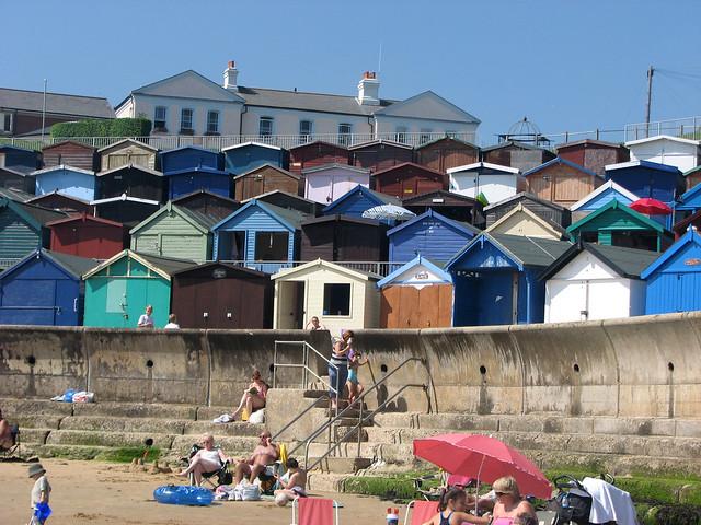 High-rise beach huts at Walton-on-the-Naze