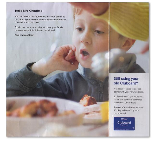 Tesco Clubcard Promotion.
