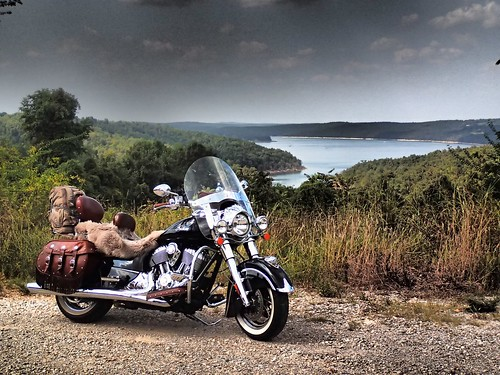 indian vintage view lake arkansas motorcycle