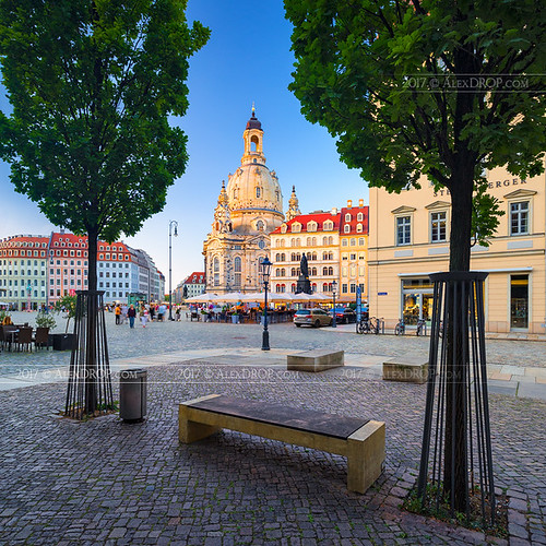 2017 dresden saxony germany deutschland travel architecture goldenhour color city wideangle urban scape dome cathedral church sunrise canon6d ef16354lis historicalplace best iconic famous mustsee picturesque postcard europe