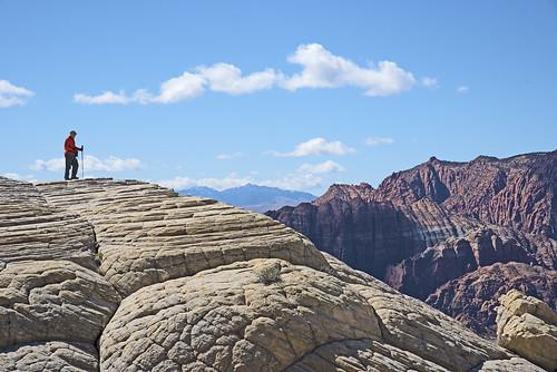 dl runemaker hiker hiking wilderness landscape nature whiterocks trail snowcanyon statepark utah mountains cliffs slickrock sandstone sky clouds