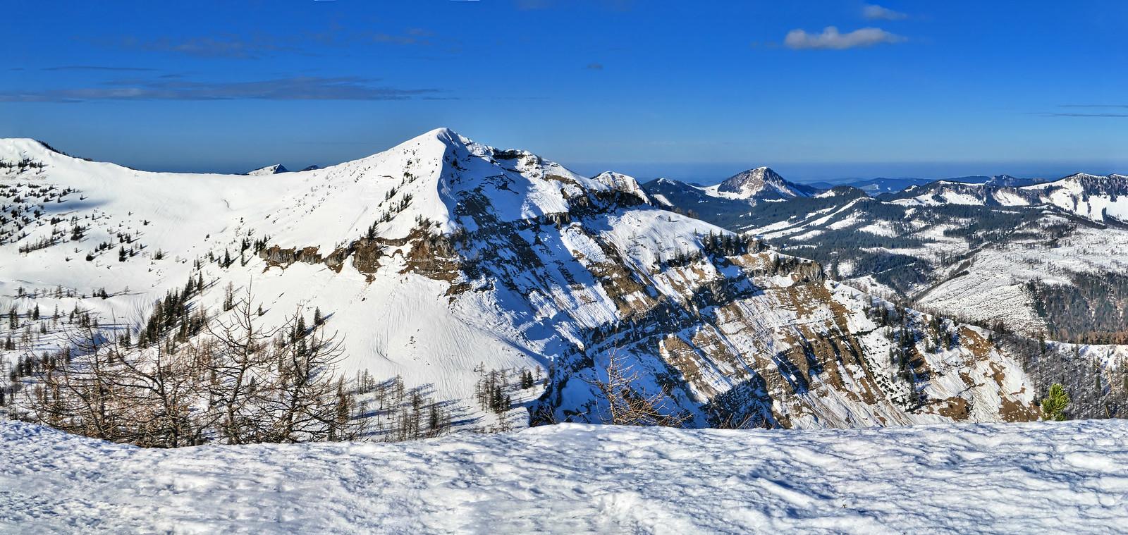 Píčenberg po ledě