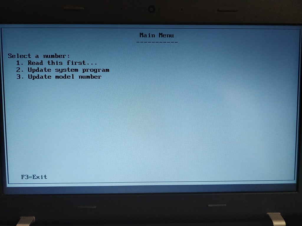 Lenovo Thinkpad Bios