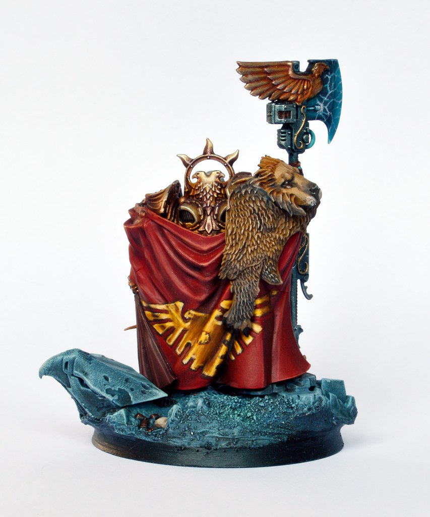 Captain-General Trajann Valoris Adeptus Custodes painted actionWarhammer 40K