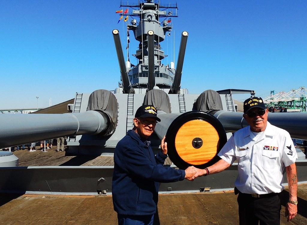 WWII Veteran Leo Garcia visits his ship, USS IOWA | WWII Vet