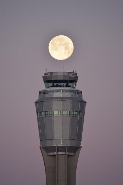 Airport Full Moon
