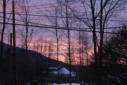 vermont winter snow nature outdoors sunrise