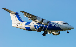 City Jet BAe 146-RJ85 EI-RJX in Leinster Rugby livery | by Neil D. Brant