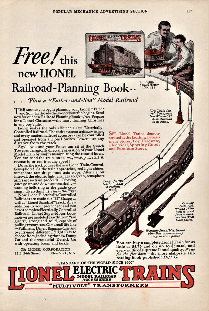 1927 Lionel Electric Trains Ad | Alden Jewell | Flickr