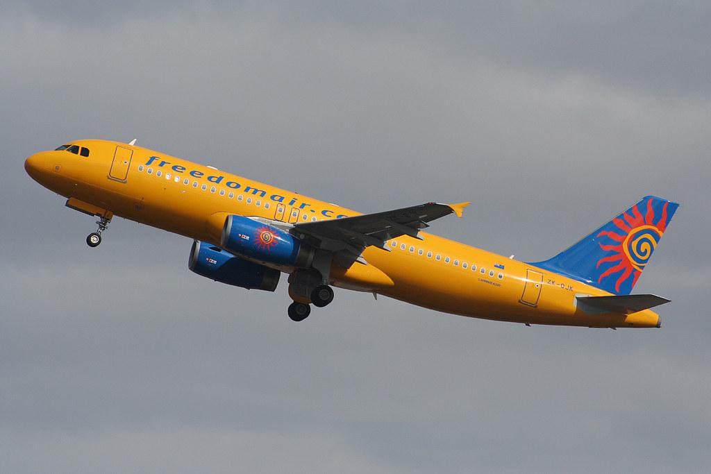 Freedom Air Airbus A320-232 ZK-OJK