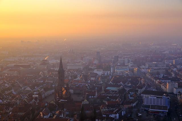 Tagesende über Freiburg