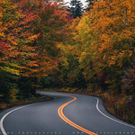 Autumn Country Road In The White Mountains