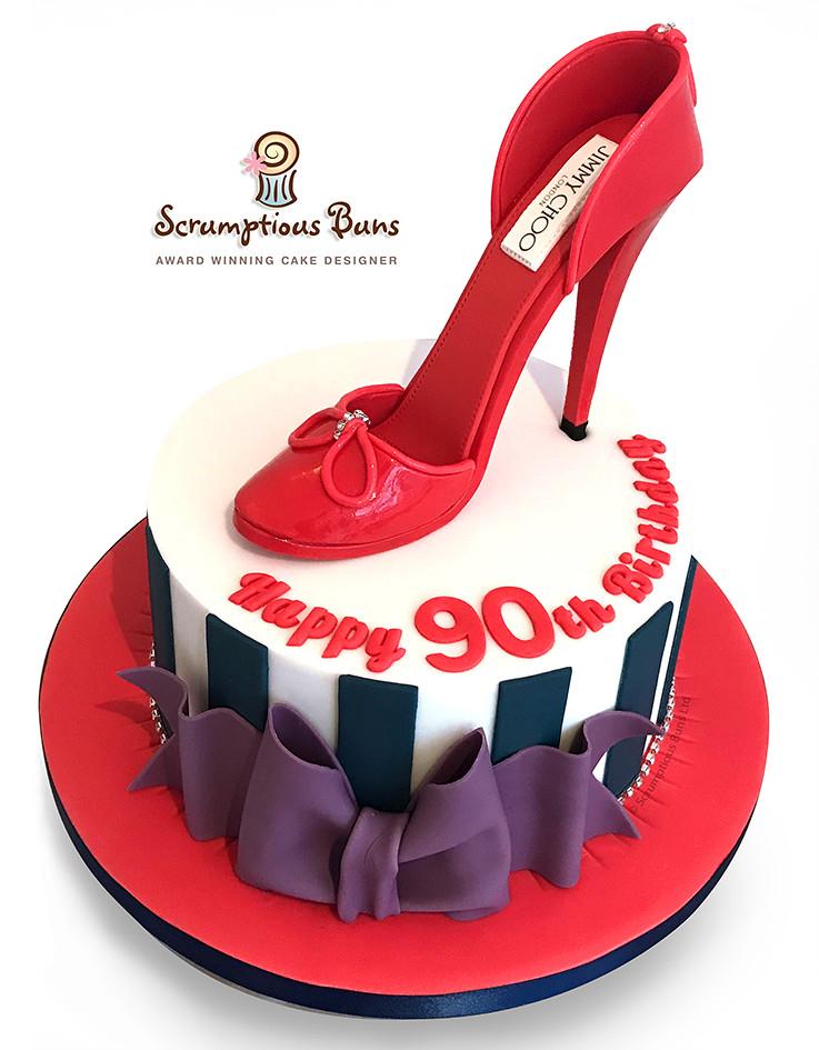 Fine Red Patent Stiletto Birthday Cake Vanilla Sponge Cake For Flickr Funny Birthday Cards Online Kookostrdamsfinfo
