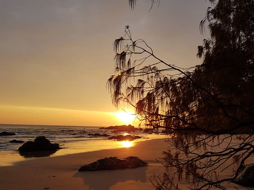 beach sunrise dawn ocean sand water sky
