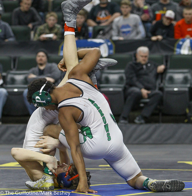 126A 1st Place Match - Michael Suda (Pipestone Area) 40-3 won by decision over Blake Legred (United South Central) 39-6 (Dec 13-9)) - 180303cmk0123