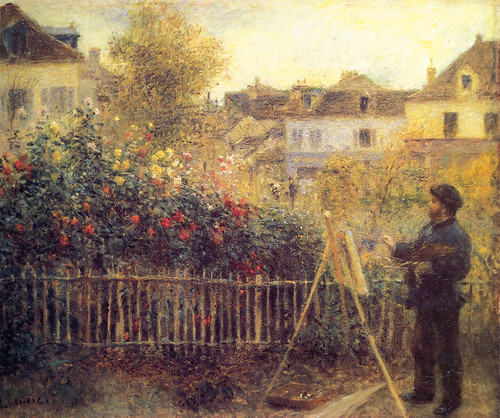 Pierre-Auguste_Renoir_-_Claude_Monet_painting_in_his_Garden_at_Argenteuil | by At Sunnyside