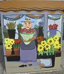 10. Willow Glen Cabinet, Flower Lady