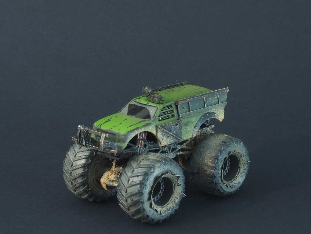 Gaslands Monster Truck | Conversion and paint on a Hot Wheel