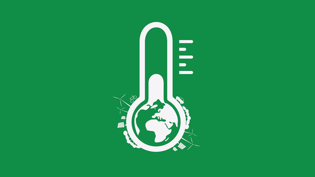 A graphic of a green thermometer