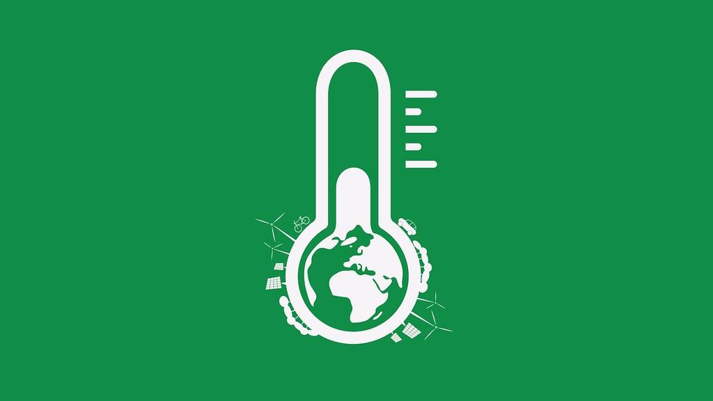 绿色温度计的图形