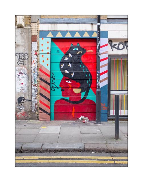 Street Art (Margaux Carpe), East London, England.