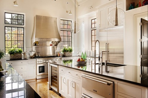 Polished Stainless Hood in Kitchen | by TrueFab LLC