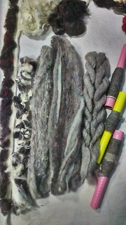 From fibres to yarn  50/50 cotton/recycled wool