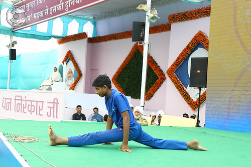Yoga item by Bal Sewa Dal volunteer