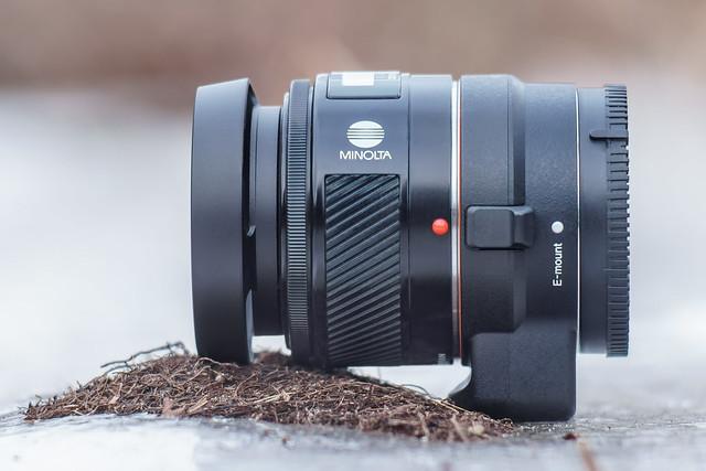 Minolta AF 50mm ƒ/1.4 on SONY LA-EA3